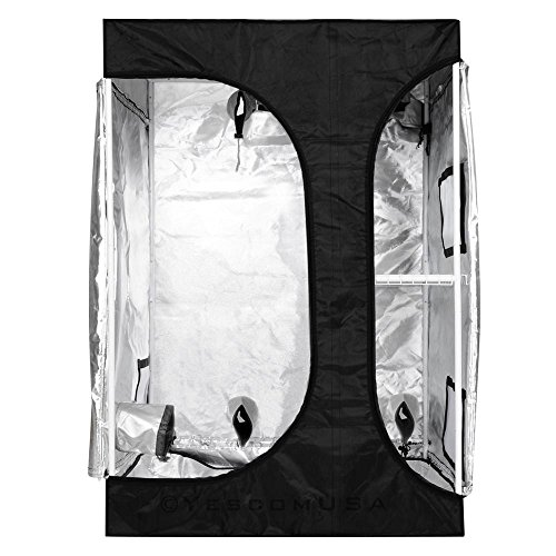 51VG7UBK5TL - 2-in-1 100% Reflective Mylar Hydroponics Indoor Grow Tent Propagation and Flower