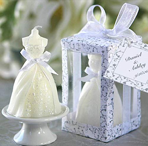 Wax Scented Candles Candle Romantic Creative Wedding Bridal Gown Candle Wax Small Gifts Party Smokeless Candle Home Decoration ()