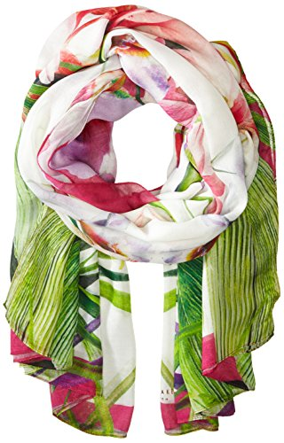 Ted Baker London Women's Tropika Floral Scarf ,Ivory,One Size by Ted Baker