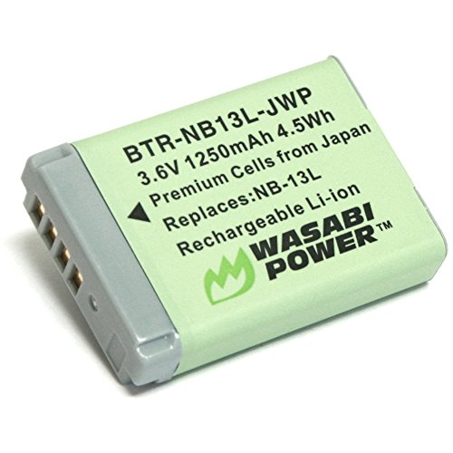 Lithium Battery Canon Ion Rechargeable (Wasabi Power Battery for Canon NB-13L)