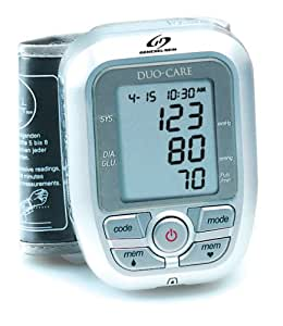 GenExel-Sein DUO-CARE Combined Blood Glucose and Wrist Blood Pressure Monitor