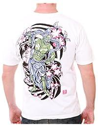 Japanese Yakuza Oni Ghost Irezumi Tattoo T-Shirt bmx Streetwear #RO10
