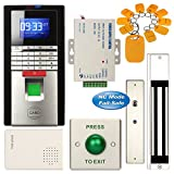 Access Control System, ZOTER Fingerprint Entry RFID ID Card Password Reader Time Attendance Security 280KG Magnetic Door Lock  Kit