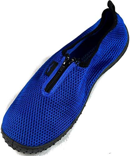 SLR MARKEN Mens Zipper Wasser Schuhe Aqua Socken Zapatos de Agua Königsblau