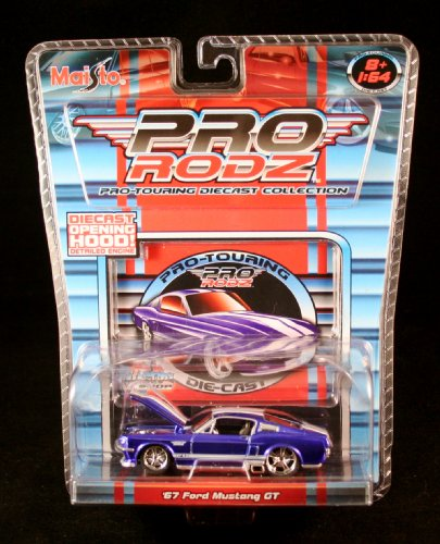 '67 FORD MUSTANG GT * BLUE * Maisto Pro Rodz Pro-Touring Die-Cast Collection 1:64 Vehicle