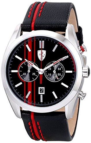 ferrari-mens-0830177-d-50-analog-display-quartz-black-watch
