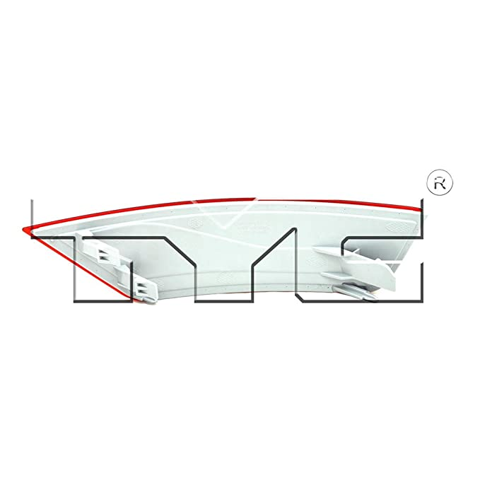 Fits 2013-2018 Ford Escape Driver Side Rear Bumper Reflector NSF Certified FO1184102 Replaces CJ5Z 15A449 B ;