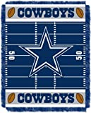 """The Northwest Company Officially Licensed NFL Dallas Cowboys Field Bear Woven Jacquard Baby Throw Blanket, 36"""" x 46"""""""