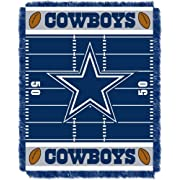Officially Licensed NFL Dallas Cowboys Field Bear Woven Jacquard Baby Throw Blanket, 36  x 46