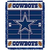 "NFL Dallas Cowboys Field Bear Woven Jacquard Baby Throw, 36"" x 46"""
