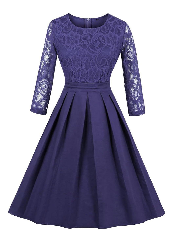 low-cost Botomi mujer encaje elegante elegante coctel vestido de ...