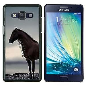 YiPhone /// Prima de resorte delgada de la cubierta del caso de Shell Armor - caballo del semental del mar del océano del verano gris - Samsung Galaxy A5 A5000