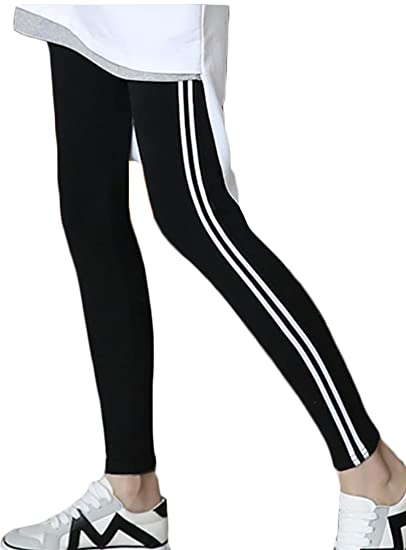 Amazon Com Generic Women S Fashion Leggings Stripe Side Yoga Pants
