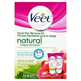 Veet Natural Inspirations, Hair Removal Kit, Gel/Cream, Sensitive Skin, Face, 2 x 50