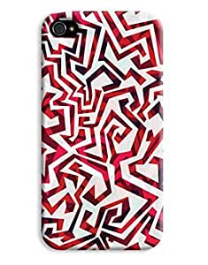 Crazy Red Pattern Case for your iPhone 4/4s