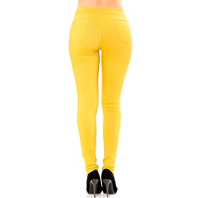 Miss Wear Line - Pantalon Slim Fashion Moutarde avec Poches Avant et arrière   Amazon.fr  Vêtements et accessoires 0a1e7c13c816
