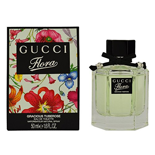 Gucci Flora Gracious Tuberose Eau De Toilette Spray for Women, 1.6 Ounce (Perfume Gucci By Flora)