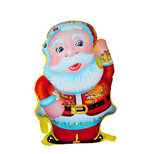 Tinksky Standing Santa Claus Foil Balloon Lovely Printed Christmas Mylar Balloon for Merry Christmas Party Decoration