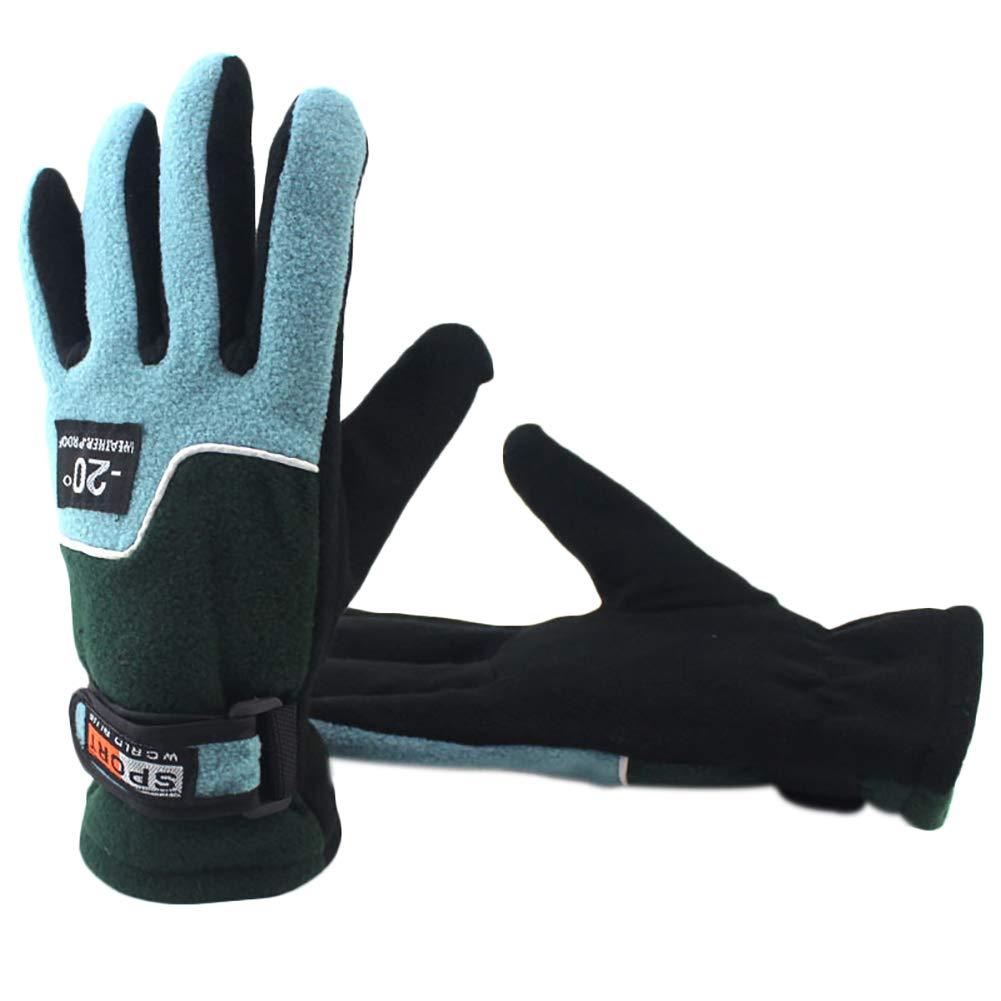 Monbedos 1PC Gants Chauds Gants épais Gants d'hiver Gants de Cyclisme pour Femmes Gants de Plein air Size Una Talla-Ancho de la Palma (Bleu Clair)