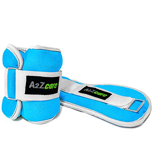 A2ZCare Adjustable Ankle/Wrist Weights for Men and Women (2lb, 4lb, 6lb, 8lb) - A Comfortable Leg Weights Set for Gymnastics, Exercise, Fitness, Walking