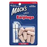 Mack'S 927 Ultra Ear Plugs Pack with Case