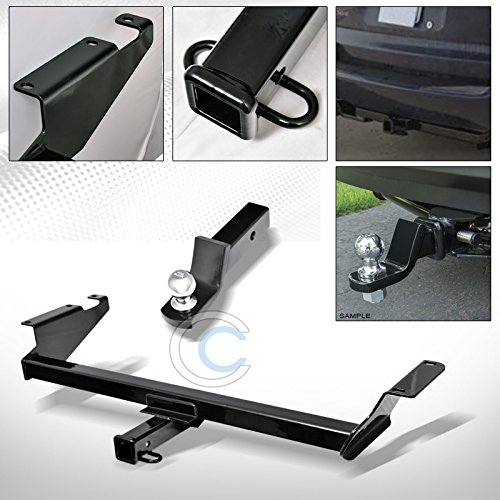 - HS Power Black Finished Class 3 Trailer Hitch with Loaded Ball Bumper Tow Kit 2