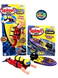 Bath tub & Pool Toys and 1 Bouncy Ball by JA-RU. Windup Boat and Diver JARU. A3