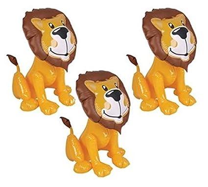 "Amazon.com: Conjunto de tres 24"" Lion inflates- Zoo ..."