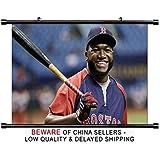 David Ortiz MLB Baseball Superstar Fabric Wall Scroll Poster (32x19) Inches