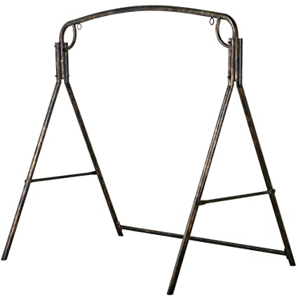 Amazon.com : Yaheetech Premium Iron Porch Swing Stand Frame Heavy ...