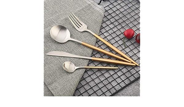 Mazur 4 unids Cuchillos Tenedores Cucharas Portugal Estilo Cubiertos de Acero inoxidable Tenedor Cuchara Cubiertos Vajilla Mutfak Malzemeleri Accesorios de ...
