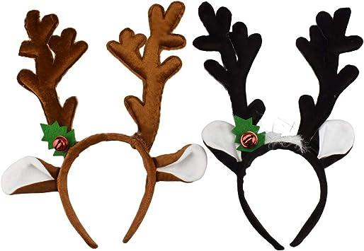 2 Feltro Renne Antler FASCE-Natale Costume Per Bambini /& Adulto UPS