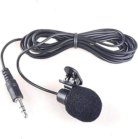 Mini 3.5 mm Microfone Hands Free Lavalier Lapel Micrófono Clip ...