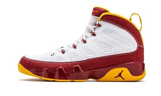 reputable site 99690 fcc0c Amazon.com   Mens Nike Air Jordan 9 Retro Bentley Ellis Crawfish Limited  Edition Basketball Shoes White-Dark Cayenne University Gold 302370-140 (10)    ...