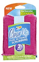 Clean Up Dual Action Scrubbers, 2-Pack
