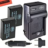 BM Premium Pack Of 2 LP-E12 Batteries & Charger Kit for Canon Rebel SL1, EOS-M, EOS M10 Mirrorless Digital Camera