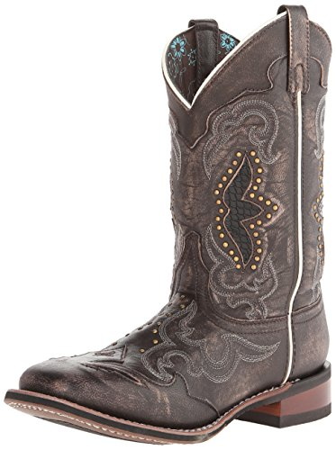 Laredo Women's Spellbound Western Boot,Black/Tan,8 M US by Laredo