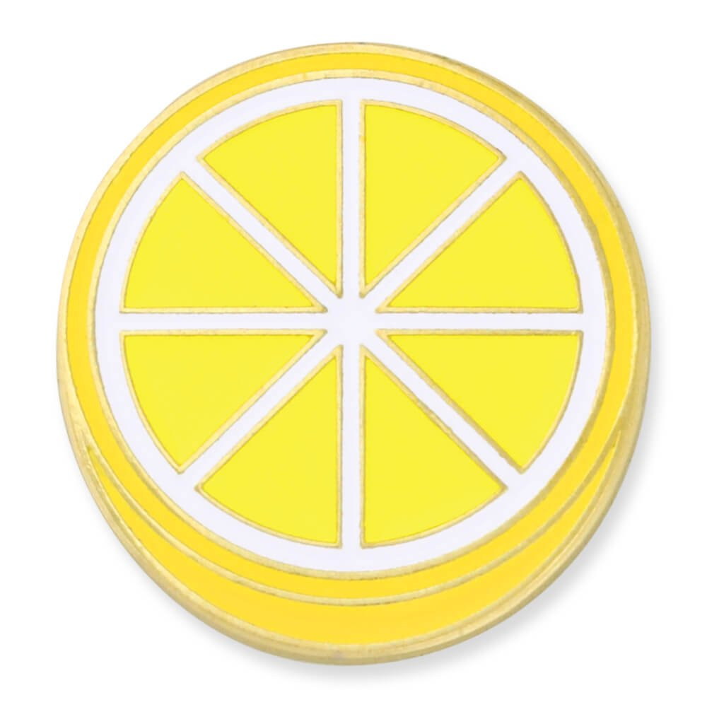 PinMart's Lemon Slice Fruit Trendy Food Enamel Lapel Pin