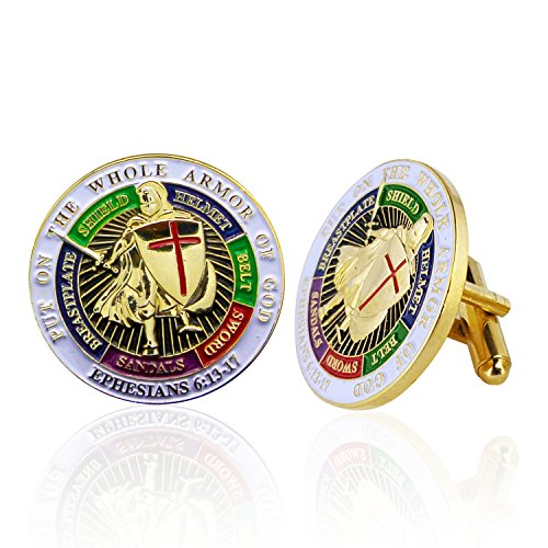 Armor of God Cufflinks, Boxed, Ephesians 6:10