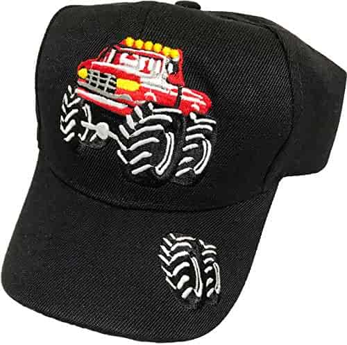 f57ae1cf R&M Headwear Children's Embroidered Monster Truck Baseball Hat/Cap  (Multiple Colors Available)