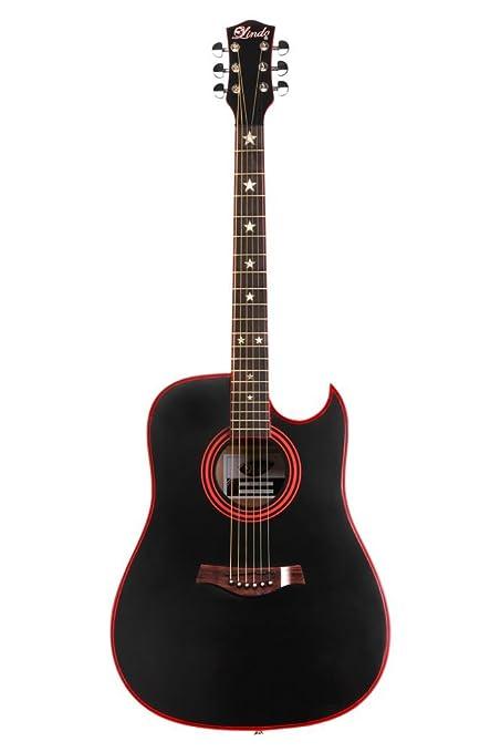 Lindo Guitars LDG-46 Widow - Guitarra acústica (con mástil de clase A y