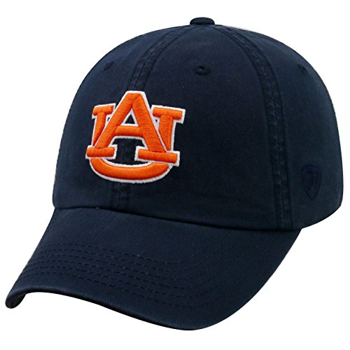 Top of the World NCAA-Cotton Crew-City-Adjustable Strapback-Hat Cap-Auburn Tigers-Navy