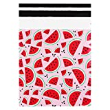 Pack4Life 10x13 Watermelon Designer Poly Mailers Self Sealing Shipping Envelopes Bags for Business, Gifts Package 100 Pack