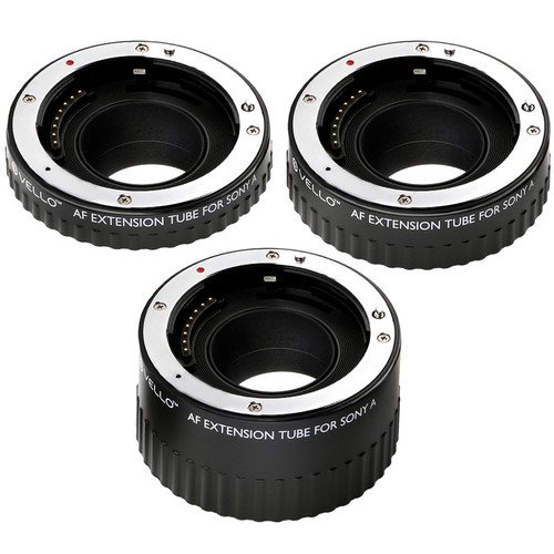 Vello Auto Extension Tube Set for Sony Alpha by VELLO (Image #2)