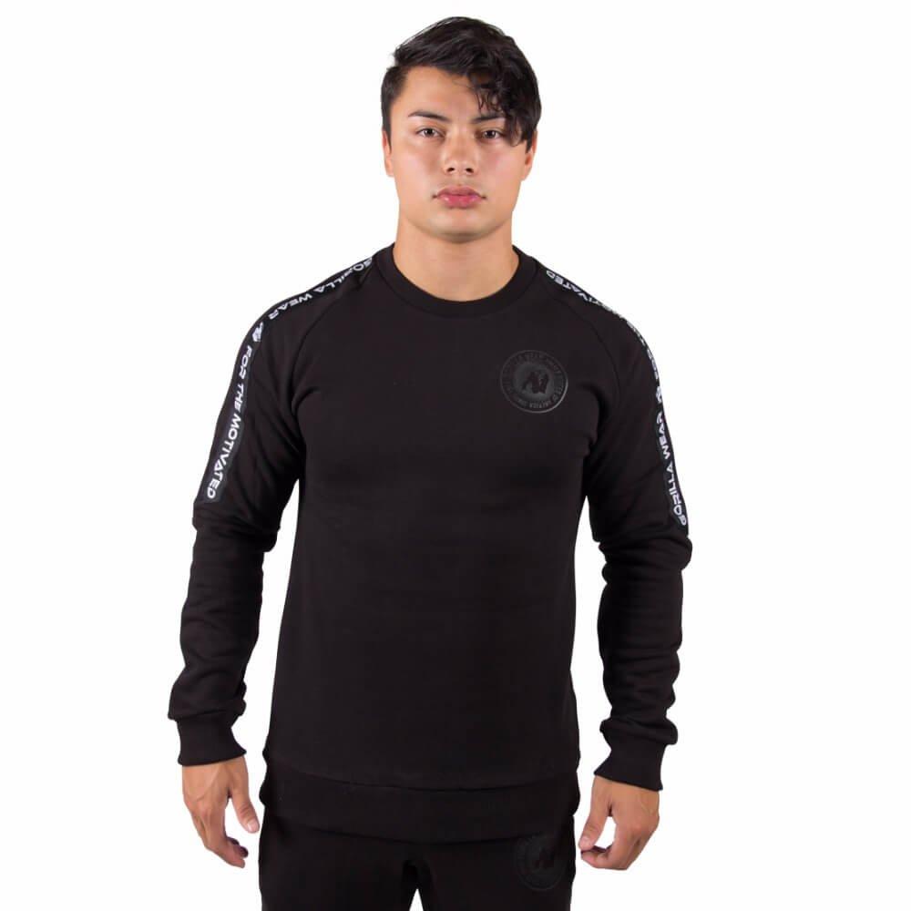 Gorilla Wear Saint Thomas Sweatshirt - schwarz - Bodybuilding und Fitness Pullover für Herren