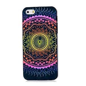 TY-Caso duro del patrón de mandala azteca para el iphone 5 / 5s