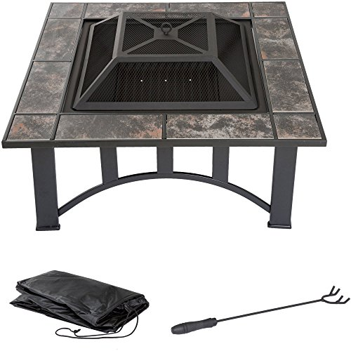 Cheap  Professional Deals LLC Fire Pit Set, Wood Burning Pit Includes Screen, Cover..