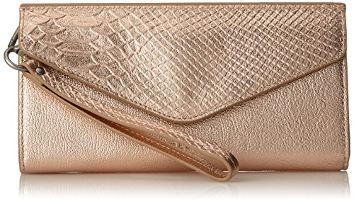 (Liebeskind Berlin Women's Ceuta Metallic Leather Wristlet, rose gold)