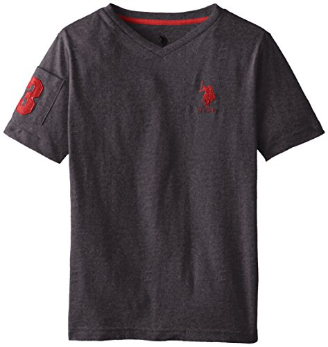 us-polo-assn-big-boys-solid-v-neck-t-shirt-dark-heather-gray-10-12