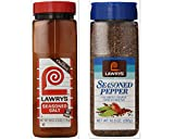 Lawry's Seasoning Bundle (Pack of 2) includes 1-Bottle Seasoned Salt, 40 oz + 1-Bottle Seasoned Pepper, 10.3 oz